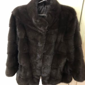Jackets & Blazers - Hip-length Mink Coat in color Cold Mocha - Size S
